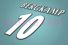 Arsenal Bergkamp #10 UEFA Champions League 97-06 White Name/Number Set
