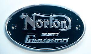 NORTON 850 Commando Solid Cast Aluminium Badge Sign Made In Britain Triumph BSA