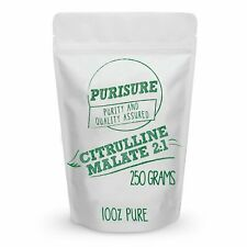 Purisure Citrulline Malate Powder | Powerfully Enhances and Pumps Muscles 250g