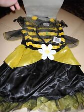NWT GIRLS TOTALLY GHOUL 2 PIECE BUMBLE BEE COSTUME DRESS with HEADPIECE 2 - 4 YR