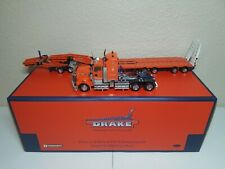 Kenworth T908 w/ Drake 4x8 Swingwing Trailer Drake Orange TWH 1:50 #T09002B New!