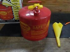 New listing Eagle Ui-50-Fs Red Galvanized Steel Type I Gasoline Safety Can with Funnel, 5 ga
