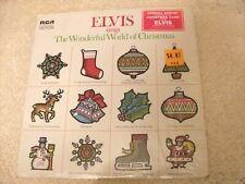 ELVIS PRESLEY ~ ELVIS SINGS XMAS ~ 1971 RCA LSP-4579 ~ W/HYPE STICKER & POSTCARD