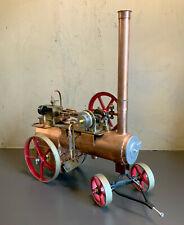 große Lokomobile - Handarbeitsmodell - Dampfmaschine Holz/Kohle befeuert