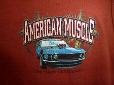 UNISEX American Muscle Newport Blue Muscle Shirt Sz Medium