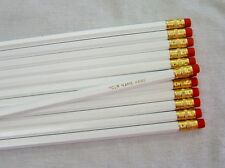 "12 Hexagon ""White""  Personalized Pencils"