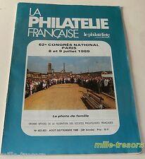 Revue LA PHILATELIE FRANCAISE - AOUT-SEPTEMBRE 1989 - Les CERES
