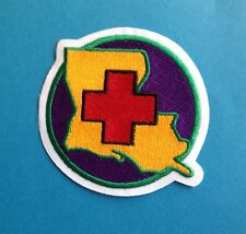 Chicago Wolves AHL NHL Jersey Shoulder Patch Special Red Cross Katrina Night