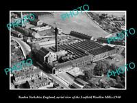 OLD LARGE HISTORIC PHOTO OF YEADON YORKSHIRE ENGLAND, THE LEAFIELD MILL c1940