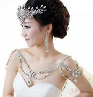 Bridal crystal Rhinestone shoulder deco Bra Strap Halter necklace 2016 New