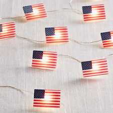 """Pier 1 Imports 4th of July Patriotic American Flags 5"""" Led Glimmer Strings"""