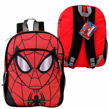 "Backpack 16.5"" Multi-Compartment Marvel Hero SPIDER MAN Face Red New"