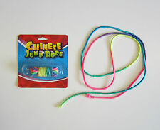 1 NEW CHINESE JUMP ROPE MULTI COLORED NEON ELASTIC JUMP ROPES CLASSIC TOY