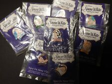 Walt Disney Snow White and the Seven Dwarfs movie Vhs release pins, set of 8