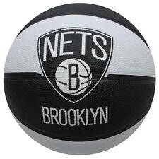 SPALDING NBA TEAM BROOKLYN NETS TAGLIA 7 NERO BIANCO BASKET BALL A651