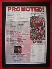 Middlesbrough FC Championship runners-up 2016 - framed print