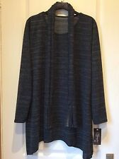 WOOL MIX GREY FLECK TUNIC/SCARF by SHENGTAI STYLE (ITALY) 14-16/BNWT