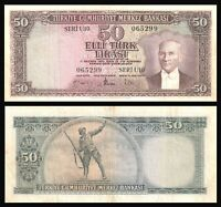 TURKEY / ATATURK *** 50 LIRA 1957 ND ( 1979 ) VERY FINE RARE !