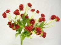 36 RED Silk Mini Open Roses Wedding Party Favor Centerpieces Flowers