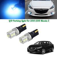 Error Free Ice Blue 168 194 2823 Packing City Lights LED Bulbs for 10-18 Mazda 3