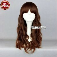 Mixed Brown Fashion Long Curly Synthetic Halloween Anime Cosplay Lolita Wig+Cap