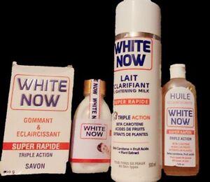 White Now Triple Action Body Lotion 500ml+Oil 125ml+Soap 200g+Milk Serum