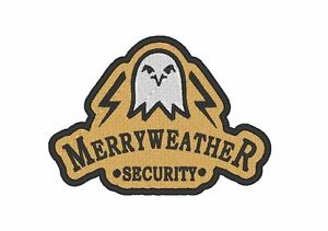 """E0058 TV/MOVIE/GAME PATCH EMBROIDERED """"GTA V"""" MERRYWEATHER SECURITY PATCH"""