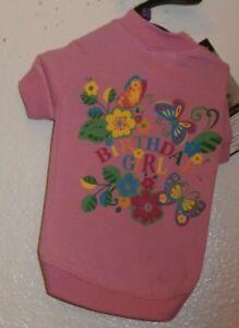 "ZACK & ZOEY BIRTHDAY GIRL TEE Size Small Pink DOG Shirt 12"" Length NWT"
