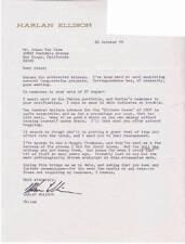 1979 original signed letter by HARLAN ELLISON