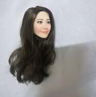 "1/6 Yoona Head Sculpt Carved Model Korean Female Star for 12"" Action Figure Body"