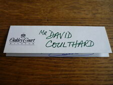DAVID COUTHARD ORIGINAL AUTOGRAPH WITH FREE RACING BOOK
