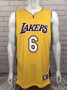 Jordan Clarkson Los Angeles Lakers NBA Jersey Fast Break Yellow Size Large NWT