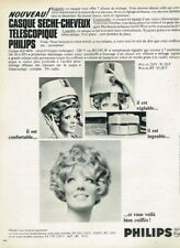 A- Publicité Advertising 1968 Le Casque sèche cheveux telescopique Philips