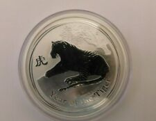2010 Lunar year of the Tiger 2 oz pure 9999% silver Proof ((( Australia)))