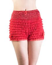 Rockabilly 50s Short Frilly Pettipants Burlesque Knicker High waist Bloomer