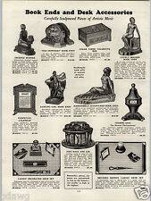 1931 PAPER AD Old Ironsides  Book Ends Incense Burner Thermo Dial Thermometer