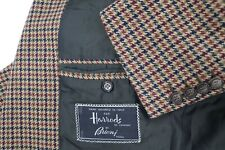 Brioni men's 40 wool cashmere houndstooth 2 button sport coat dual vented Jacket
