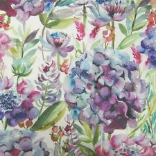 Voyage Decoration Hydrangea Grape Cream fabric! 40% Linen, 60% Cotton.