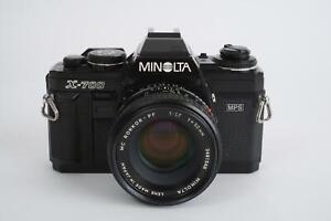 Minolta X-700 camera body + MC Rokkor-PF 50mm 1:1.7 (Minolta MD mount)
