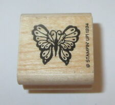Butterfly Rubber Stamp Fancy Wings Stampin' Up! Mini Butterflies Wood Mounted #2