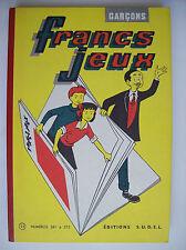 album Francs Jeux n° 23 n°s 261 à 272 1957 état neuf recueil