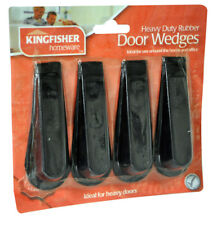 Kingfisher Rubber Door Stop Wedges 4 Pack DWEDGE2