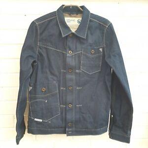 G Star Raw Organic Vintage Denim Mens Jacket  Dark Wash Size XL JA18