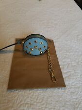 Rare Burberry Studded Leather Wristlet Coin Case  Key Ring $375
