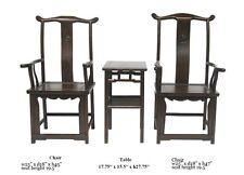 Chinese Elm Wood Dragon Carving Tai Shi Chair Set / 3 Pcs cs577