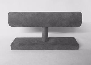 Bracelet / Bangle Stand Jewellery Display (Ash Grey Suedette)  *Made in the UK*
