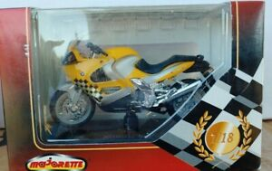 Majorette BMW K 1200 RS 1:18 Scale Die Cast Motorcycle with Stand