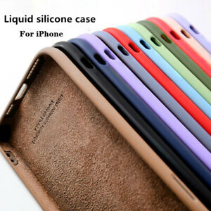 Straight Edge Case For iPhone 12 Pro Max 11 XS XR 7 8 SE 2 Liquid Silicone Cover