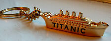 TITANIC Dorado Llavero Fob Barco Mini Miniatura Única Inusual Enviar NYC USA