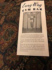 Vintage Easy Way Gym Bar Klaudt Products Brochure